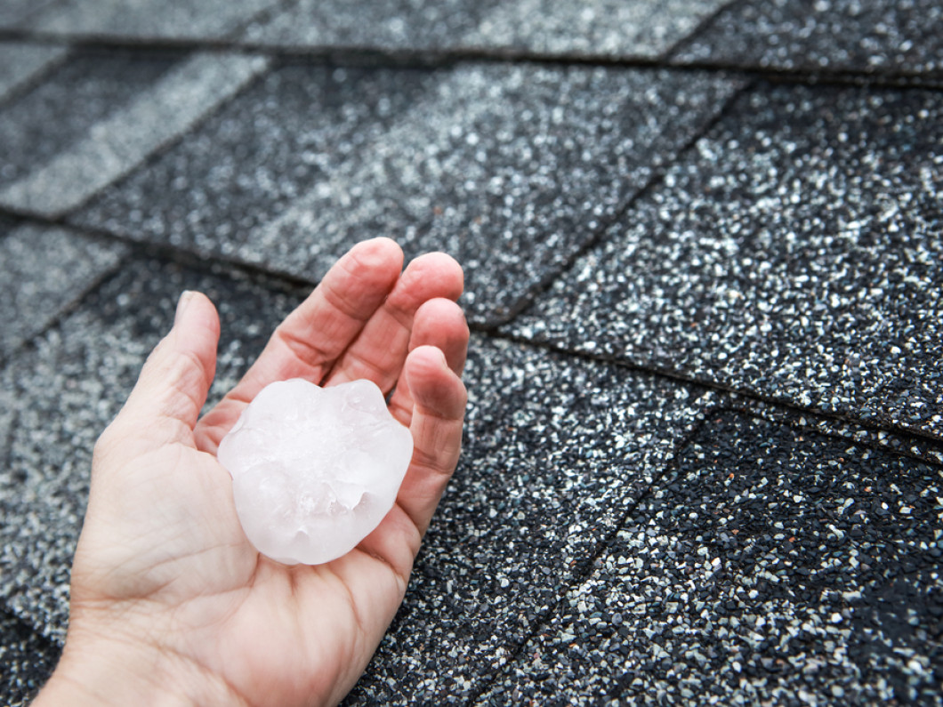 Was your roof damaged by the hail?